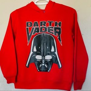 4/$25 Boys Red Darth Vader Pullover Hoodie Sweater
